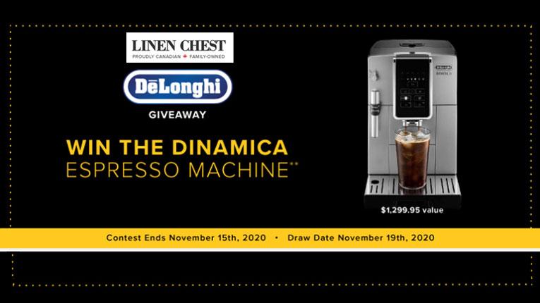 Linen-Chest-DeLonghi-Espresso-Machine-Giveaway